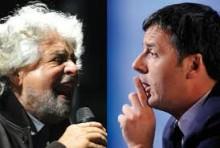 matteo renzi+beppe Grillot