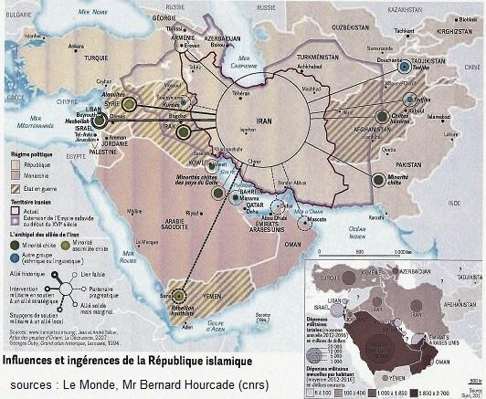 l'Iran la carte