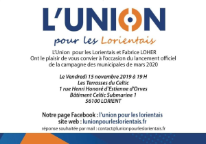 Invitation lanceement campagne Fabrice